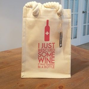 Handbags - REUSABLE wine tote up to 6 bottles